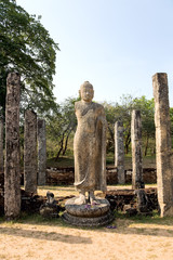 Ancient Buddha statue  in Polonnaruwa - vatadage temple, Sri lan
