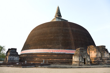 The Rankot Vihara or the Golden Pinnacle Dagoba in Polonnaruwa,