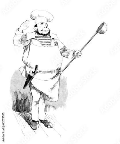 Humour cook koch cuisinier de erica guilane nachez for Cuisinier humour