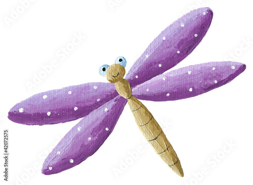 Cute purple Dragonfly