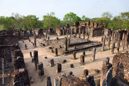 ancient  temple in Polonnaruwa- medieval capital of Ceylon,  Sri