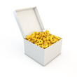 Box with Euro/Dollar in it 3d render