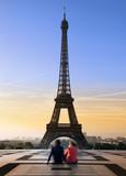 Fototapety Couple Tour Eiffel
