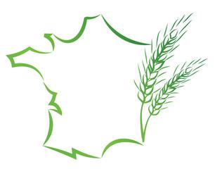le blé en france,