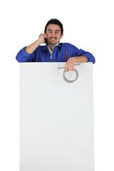 craftsman talking on the phone