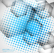 Abstract colorful blue circle texture background vector