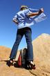 Woman high heels adventure holiday outback Australia