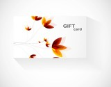 abstract beautiful gift card floral vector