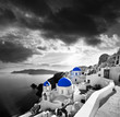 Santorini with Traditional Church in Oia, Greece