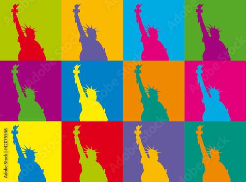 Statue de la liberté POP ART