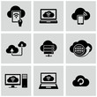 Cloud computing icons set.