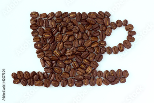 Roasted coffee beans cup