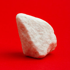 Glittering white stone isolated