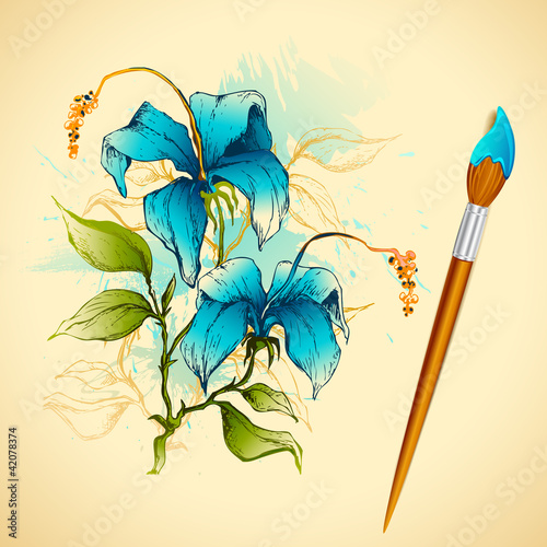 Painiting of Flower