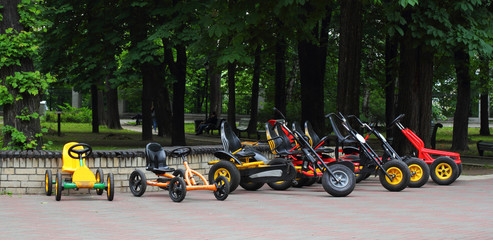 Four wheeled bicycles