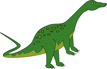 Green Apatosaurus Dinosaur available as a vector or jpg