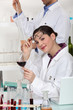 experts testing wine in a laboratory