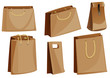 Set of paper packaging packages (bags) with rope handles