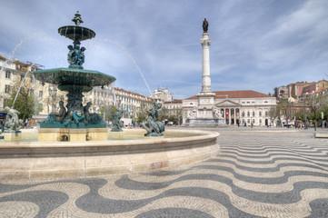 Rossio Square, Lisbon, Portugal.