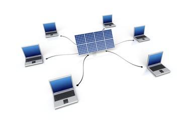 Computer network - Internet concept