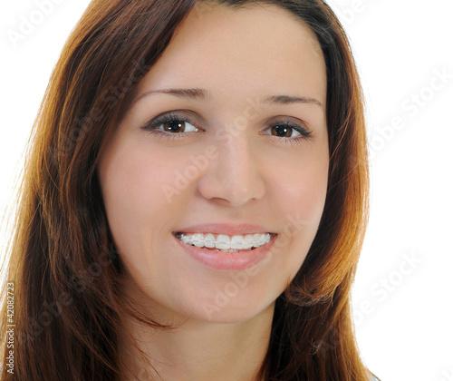 Beautiful Teen Girl With Braces