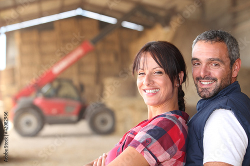 Farmer couple