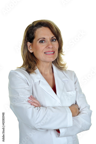 Woman Wearing White Lab Coat