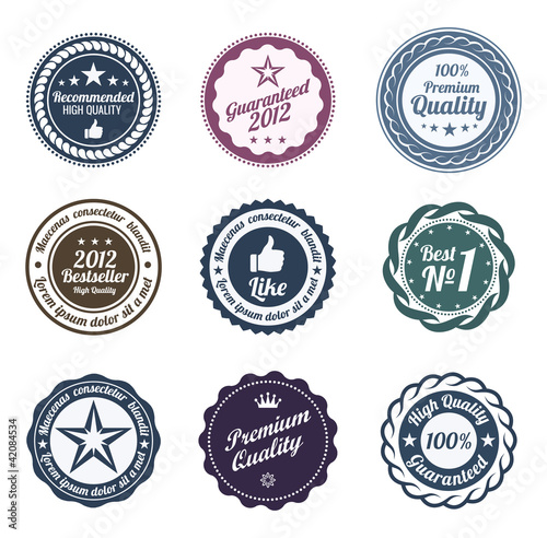 RETRO Design. Premium Vintage Labels. Trendy design