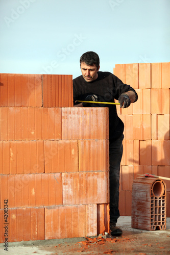 Man working alone on site