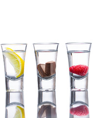 Flavoured vodka shots