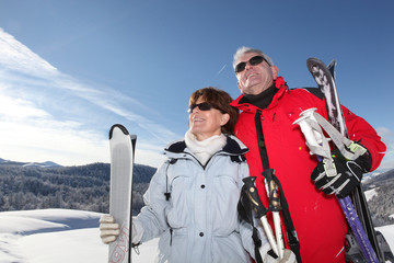 Couple at the mountain