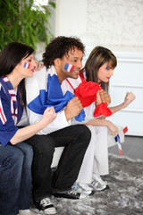 Tense French soccer supporters