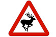Señal peligro animales sueltos