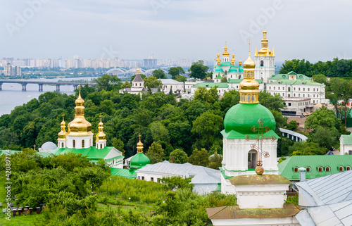 View of Kiev Pechersk Lavra Orthodox Monastery. Ukraine
