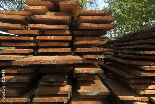 Closeup wooden boards