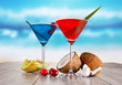 Summer martini drinks