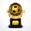 Soccer Golden Award Medals. vector illustration