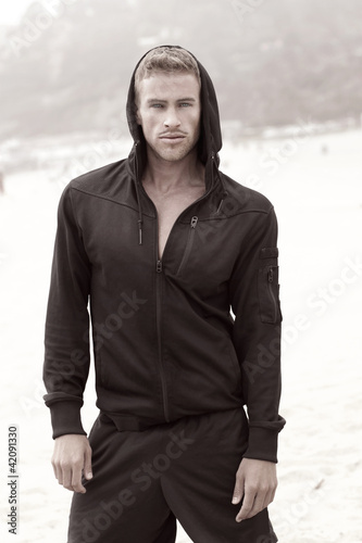 Male fashion model