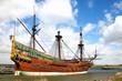 Leinwanddruck Bild - Replica of Dutch tall ship the Batavia