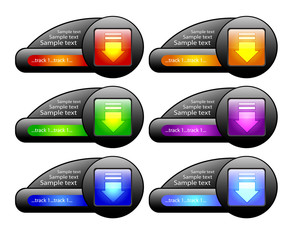 Download buttons. Vector
