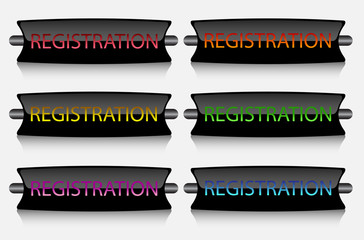creative buttons Registration