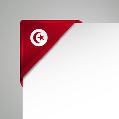 tunesia vector flag corner
