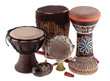 Leinwanddruck Bild - African ethnic drums from different countries