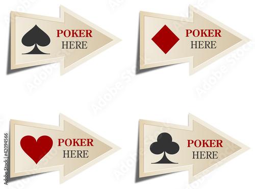 Casino arrows. Poker here