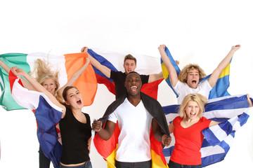 Gruppe Fußball Fans