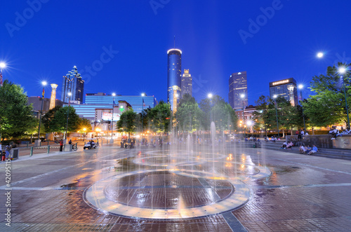 Leinwanddruck Bild Centennial Olympic Park in Atlanta, Georgia