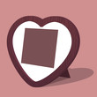 Heart photo frame. Vector illustration.