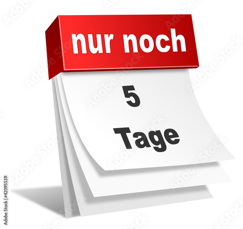 Countdown 5 Tage