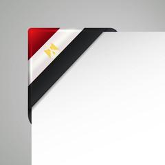egypt metallic looking vector flag corner