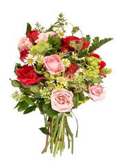 Blumenstrauß mit Rosen, isoliert
